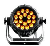 De Ce Goedgekeurde IP65 Waterdichte Projector van het PARI 18*15W5in1 Rgbaw van het LEIDENE Stadium van het PARI Lichte met de Verlichting van het Stadium DMX512