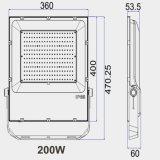 TUV CE UL Meanwell conductor SMD Farol de IP65 100lm/W 100W/150W/200W Reflector LED Slim con 5 años de garantía.