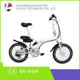 Fábrica de China 250 W batería oculto bicicleta plegable eléctrica