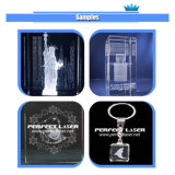 гравировальный станок лазера кубика внутренней стеклянной акриловой кристаллический гравировки лазера 3D портативный стеклянный