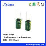 Hoge Frequentie van de Condensator van de hoogspanning 3.3UF 450V de Elektrolytische