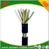 Кабель управления Cu проводник ПВХ изоляцией экранированного кабеля управления Kvvp Kvv / Номинальное напряжение 450/750V ПВХ изоляцией кабель управления