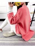 レースファブリックが付いている編む服