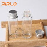 O tubo de ensaio de vidro transparente 5ml com o tampão de parafuso de alumínio 5ml esvazia o frasco de vidro de vidro farmacêutico da alta qualidade 5ml do tubo de ensaio
