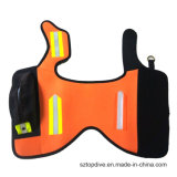 蛍光顔料オレンジ反射犬のジャケットを保護する反射バンドハンチングと大型