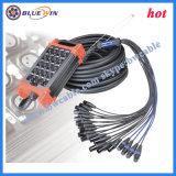 Câble Audio Câble phase serpent avec boîtier connecteur XLR câble de sortie d'entrée AV 24 canaux audio XLR Multicore métier à tisser
