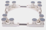 Регулируемое передвижное низкопробное многофункциональное подвижное основание с фиксируя резиновый шарнирным соединением 8 катит тележку ролика для сушильщика, моющего машинаы и холодильника (ABS)