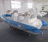 Liya 17pieds bateaux gonflables rigide ce bateau de luxe approuvé Rib