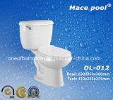 Gabinetto a due pezzi delle tolette degli articoli sanitari della stanza da bagno (DL-012)