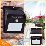 庭のヤードの屋外及び屋内緊急夜ライトのための分離可能な20 LEDsの太陽電池パネルPIRの動きセンサーランプ3