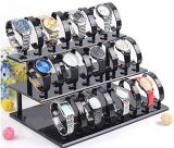 3-Tier Watch 24 amovible Stand Titulaire de l'acrylique Watch Display Holder-Black châssis rack Watch Watch