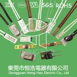 Interruptor termal del recorte de Bw-A1d, interruptor bimetálico de la temperatura de Bw-A1d