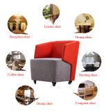 レセプションの控室のための車輪が付いているファブリックによって装飾されるラウンジの座席
