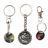 Metallo d'argento semplice all'ingrosso Keychain