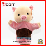 Fantoche de mão animal do luxuoso do porco das bonecas da mão do brinquedo educacional do bebê