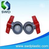 Las válvulas de bola PVC compacto gris estándar DIN.