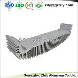 Un alto rendimiento Anodize extrusión de aluminio plateado de disipador de calor