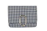 Новые поступления моды схемы Houndstooth ткань+PU сумки через плечо Сумка почтальона
