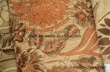 Bello jacquard del Chenille dei fogli e dei fiori con l'oro musivo (FTH32064)
