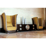 Armário de decoração de luxo do lobby do hotel com um sofá (SL-02)
