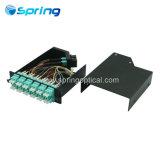 24 núcleos MTP MPO chasis de fibra óptica de los módulos de MPO soluciones de sistema de fibra óptica de MTP.