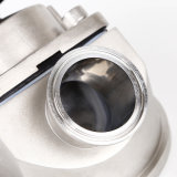 Válvula de diafragma sanitaria de la parte inferior del tanque del acero inoxidable