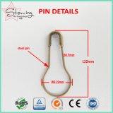 Il rifornimento Coiless della fabbrica ha verniciato ha colorato la spilla di sicurezza di figura della pera del metallo di 22mm per Loacking