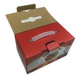 Caixa de empacotamento de papel impressa dos coxins com punho