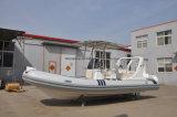 Liya 20FT aufblasbares Rippen-China-Fiberglas-Mittelkonsolen-Schlauchboot
