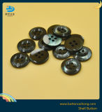 La teinture de nacre noir Boutons de tricotage de Shell avec 4 trous