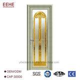 Do pó de vidro de alumínio das portas da isolação sadia portas de alumínio revestidas do frame