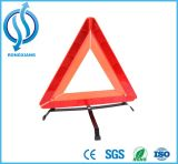Triangolo d'avvertimento di vendite di alta di visibilità sicurezza rossa calda di incandescenza