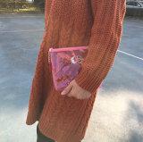 Personalizzato chiaramente comporre l'articolo da toeletta impermeabile trasparente dei sacchetti dell'estetica dei sacchetti di frizione