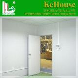 Camera prefabbricata di disegno della parte superiore piana composta da materiale verde