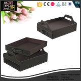 Casella di memoria di cuoio nera di vendita calda in Cina (5276)