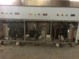 Máquina fritada bandeja do rolo do gelado de plano dois dobro com 8 bandejas