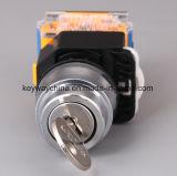 열쇠 구멍 자판 잠금 누름단추식 전쟁 스위치 (LA118M 시리즈)