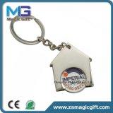 Moeda relativa à promoção Keychain do trole da casa das vendas quentes