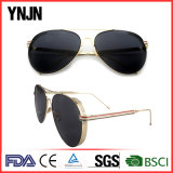 Ynjn UV400の目はミラーのSteampunkのサングラスを保護する