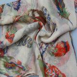 赤い印刷のスカーフ、女性ポリエステルショールのファッション小物