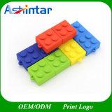 USB2.0/USB3.0 Unidade Flash USB plástico Building Block Shape Stick USB