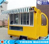 Chariot mobile de crême glacée avec des certificats de la CE