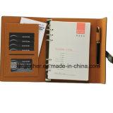 A5 Diário de couro para notebook com capa dura para escritório