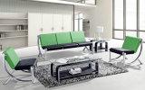 Sofá de acero moderno del cuero del metal de los muebles de oficinas (NS-SA07)