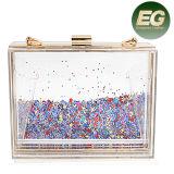 2017 Acrylic Ladies Party Fashion Clear Evening Clutch Bag para mulheres baixas MOQ (EB647)
