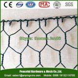 Двойная ячеистая сеть Gabion PVC закрутки гальванизированная Galfan Coated шестиугольная