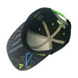 Chapéu feito sob encomenda do esporte da forma do Snapback do preto do bordado do tampão da cópia