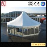 Tente hexagonale de dôme du diamètre 7.5m de tente de dôme de tente de tente 15m transparente d'octogone
