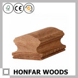 Barandilla de alta calidad de la escalera de madera sólida del roble rojo para el edificio