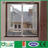 木の穀物のアルミニウム開き窓のWindows